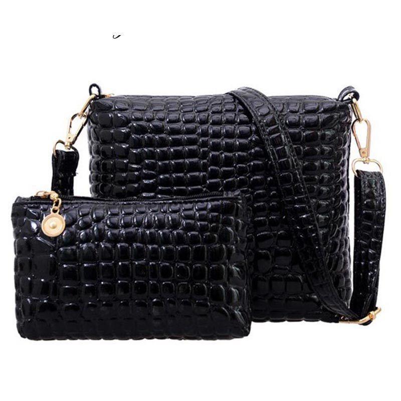 a2579255bc42 Good Quality Bag Set Women Messenger Shoulder Bag Crocodile Pu Leather  Casual Crossbody Bags Set Women Clutch Composite Handbags Ladies Purses  Fashion Bags ...