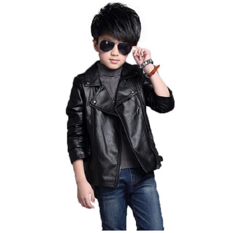 d78ea38add9fec good quality boys outerwear children's pu leather coat jackets fashion kids  cardigan outwear coats clothing autumn boys clothes