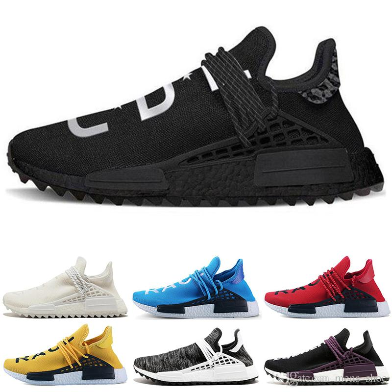 a0e1ffe645cf8 Hot Sale Human Race Hu Trail Pharrell Williams Mens Running Shoes Blank  Canvas Pale Nude Equa Trainers Men Women Sports Sneaker Size 5 12 Running  Clothes ...