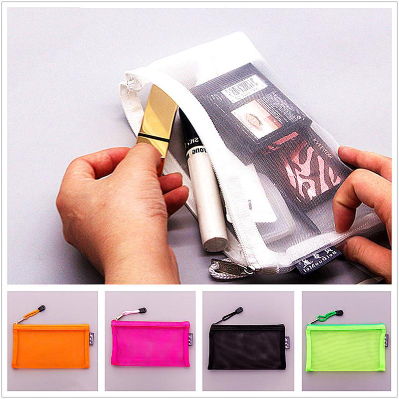 Fashion Transparent Small Cosmetic Bag Women Travel Zipper Make Up Case Organizer Storage Makeup Pouch Toiletry Beauty Wash Kit