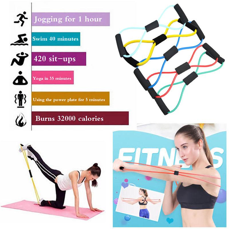 2019 elastic 8 shaped fitness elastiek pull rope latex resistance2019 elastic 8 shaped fitness elastiek pull rope latex resistance bands pilates crossfit yoga stretch loop chest expander from godefery, $35 2 dhgate com