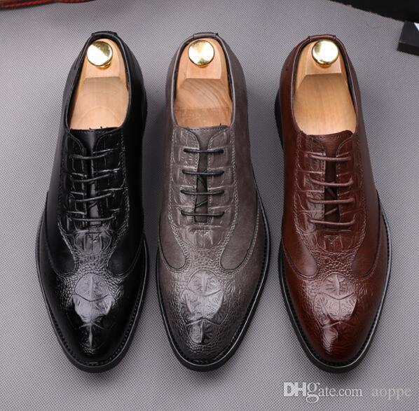 compre 2019 zapatos de boda para hombre zapatos de vestir patrón de