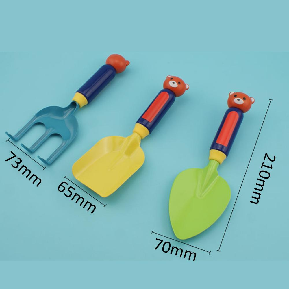 3pcs Kids Children Mini Garden Tool Set Trowel Rake Shovel Simple Gardening Tools Suitable for Beach Garden Outdoor