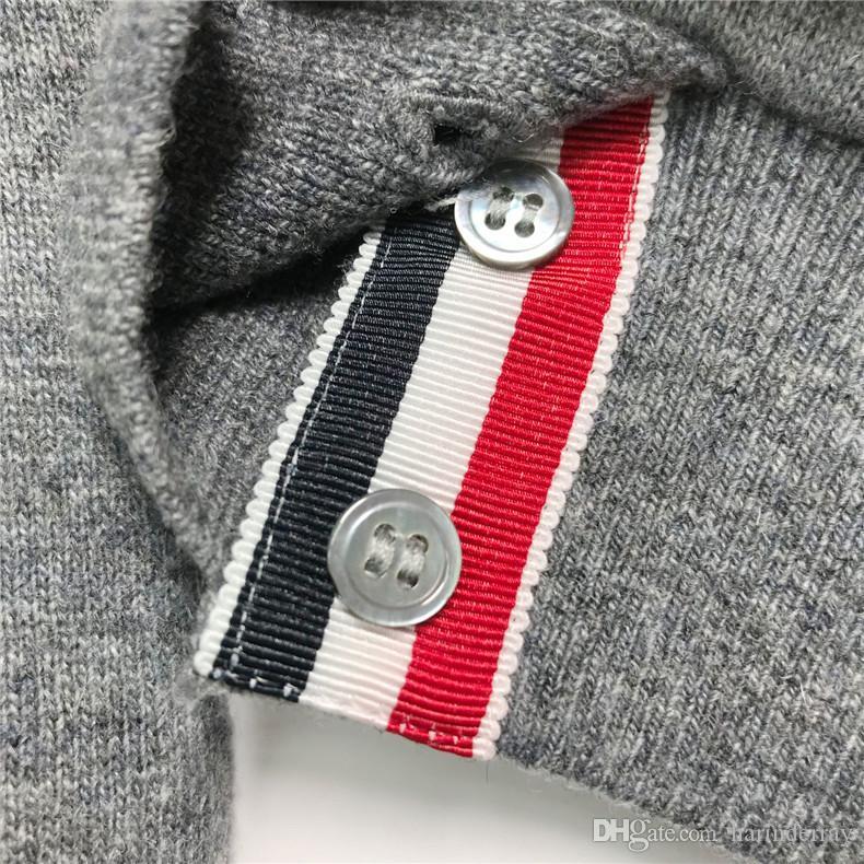 Top-Qualität Herbst Winter tb thom reinem Kaschmir Engineered 4-Bar Arm Streifen Kapuzenpulli der Frauen der Männer Browne Casual Sports Sweatshirt.