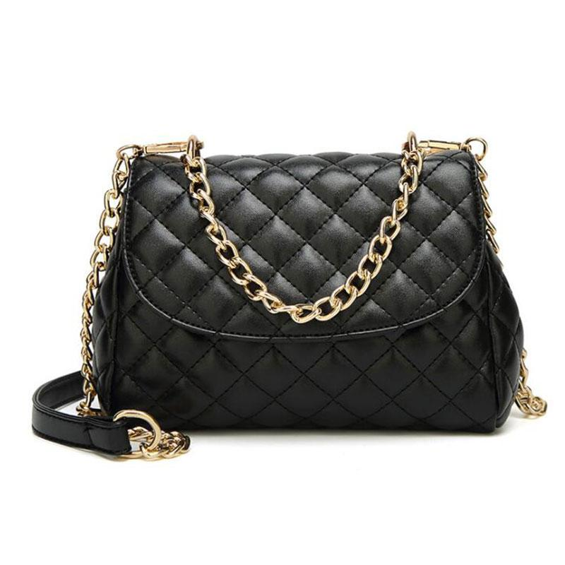 a0015b3ed098 Quilt Women Leather Small Shoulder Bag Medium Crossbody Bag Messenger Chain  Strap Cover Flap Shoulder Bags Handbags On Sale From Redline