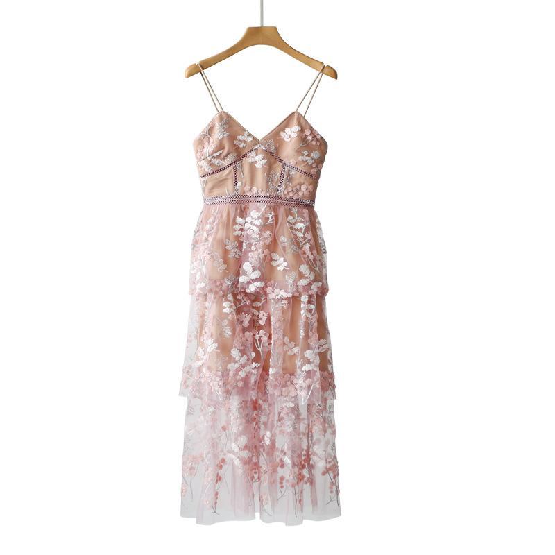 11766e1271ec Autorretrato naranja rosa bordado lentejuelas flores con vestidos vestidos  y faldas de hadas