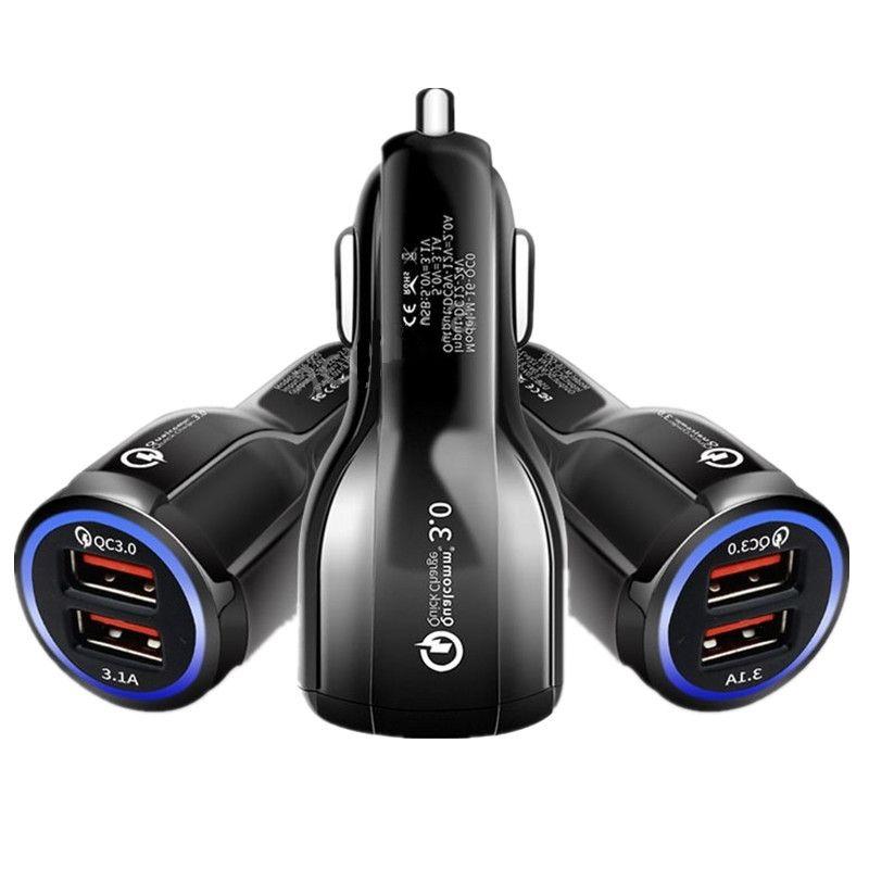 3.1A USB Car Charger Quick Charge QC 3.0 2 Port Dual USB