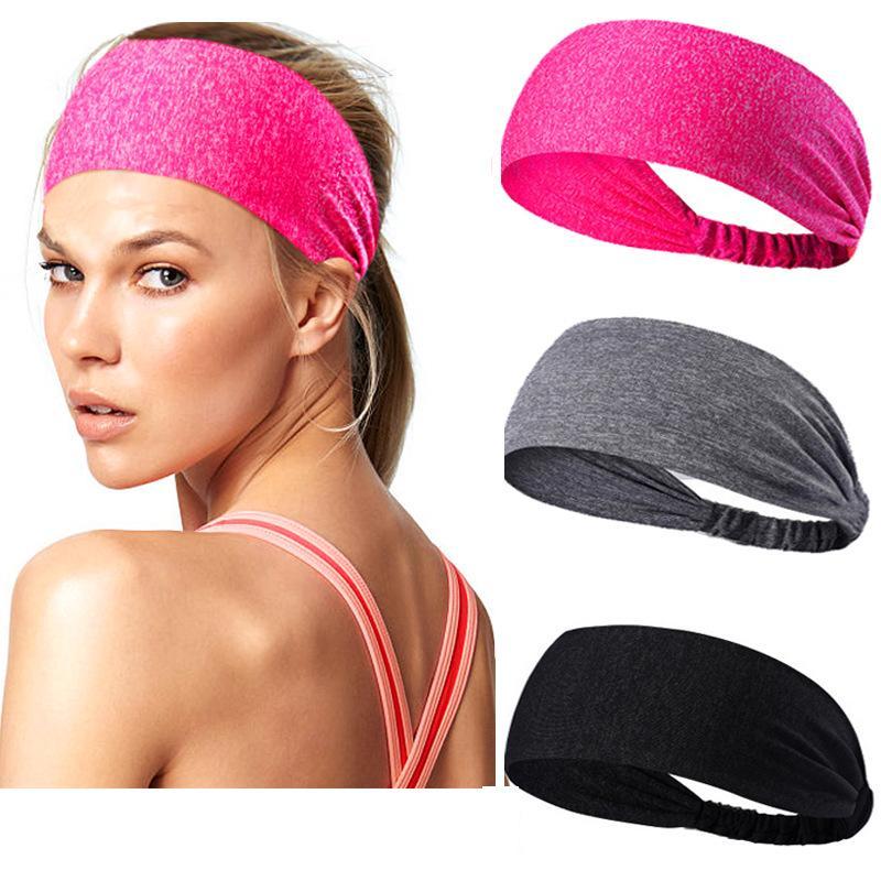 meilleur pas cher pas cher beau Femmes Yoga Large Bandeau Stretch Élastique Headwrap Bande De Cheveux vente  chaude doux Aspiration Sweat hairband LE254