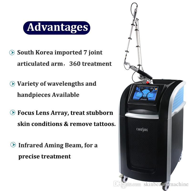 2020 Newest Cynosure Tattoo Removal Pico Laser New tech Spot Pigment removal picosecond laser machine Tattoo Ink Speckle Freckle Removal