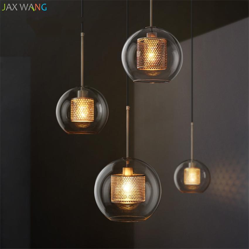 Großhandel Moderne Ball Glas Pendelleuchte Wohnzimmer Kronleuchter  Beleuchtung Led Hanglamp Loft Decor Lampen Leuchten Wohnzimmer Schlafzimmer  Von Butao, ...