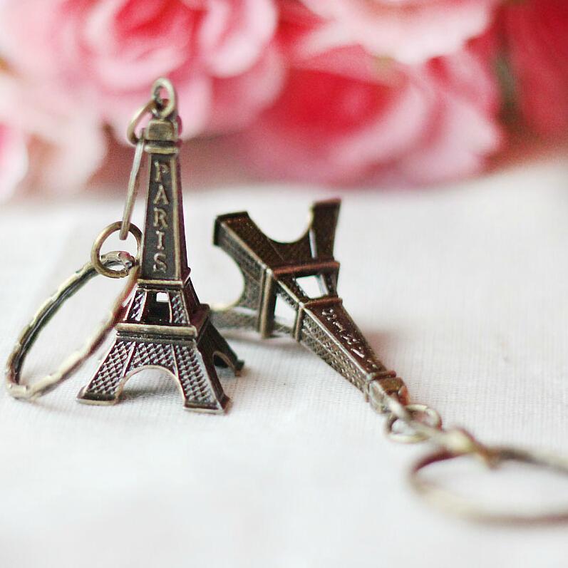 Retro Mini Decoração Torre Torre Eiffel Chaveiro Paris Tour Eiffel Chaveiro Chave Titular Chaveiro Mulheres Saco Charme Pingente de Presente