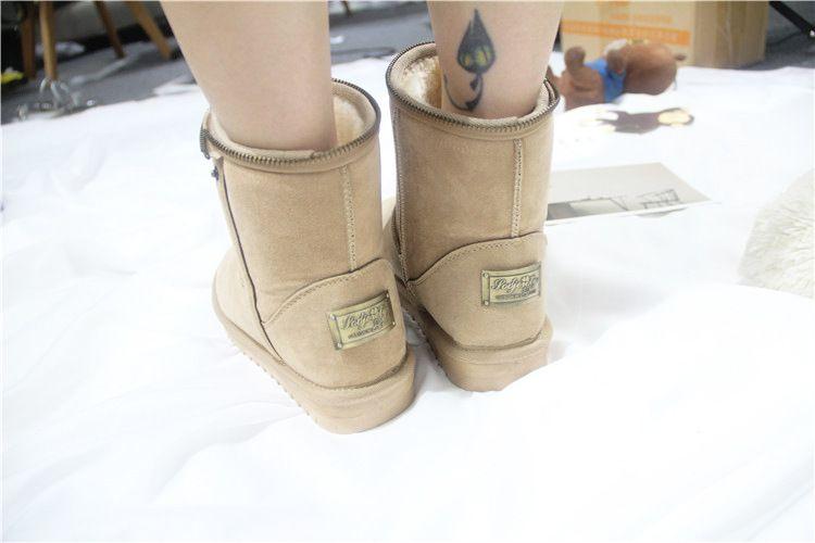 Lzzf 2018 Russia Peluche Pelucia Scarpe invernali Donna Donna Donna Stivaletti Donna Stivali da neve Peluche Buty Botas Mujer Bottines
