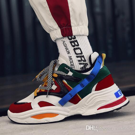 60751b3941c INS Vintage Dad Sneakers 2018 Kanye West 700 Light Breathable Men Casual  Shoes Zapatillas Hombre Casual Tenis Masculino Skechers Shoes Mens Dress  Shoes From ...