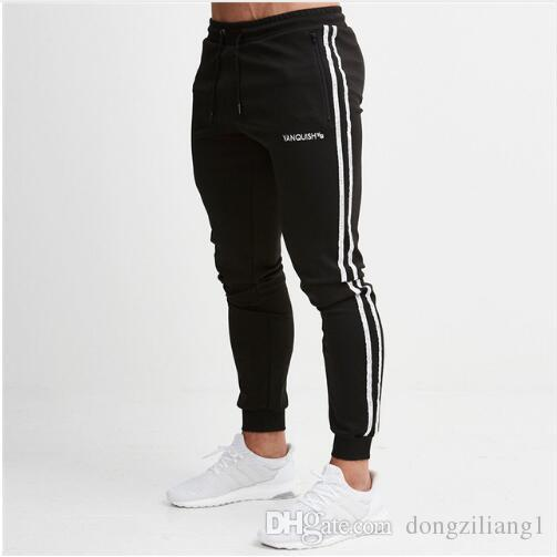 9618b0af04 2019 Casual Skinny Sport Leggings Men Running Sweatpants Sportswear Joggers  Tights Mens Gym Fitness Pants Elastic Trousers With M-2XL Skinny Sport  Leggings ...