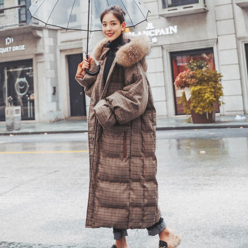 207500d35c0d Fashion Elegant Women 2018 Winter Jacket Women Parkas Cotton Padded Jacket  Warm Female Long Plaid Coat Boutique Clothes Tops Basic Jackets Cheap Basic  ...