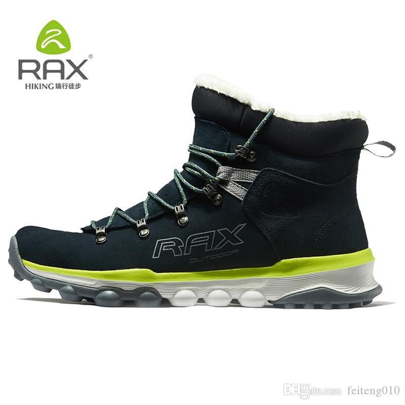 3046e61d0cb RAX Hiking Boots Men Winter Warm Outdoor Professional Sports Snow Boots for  Women Anti-slip Lightweight Hiking Shoes PlushLining #4478