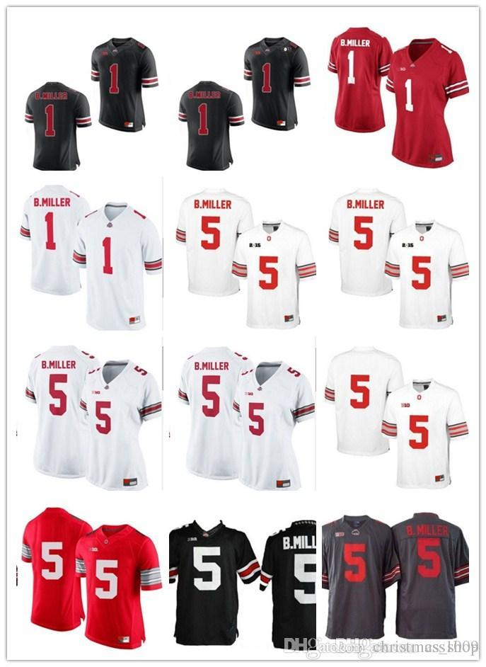 finest selection d22aa 2ecd1 1 Braxton Miller OSU White Red Black Ohio State Buckeyes College Football  Jerseys And Diamond Quest Playoffs NO.5 Jersey