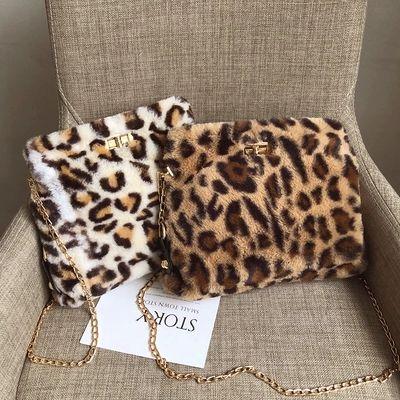 9e51a253e0 HOT Vintage Fashion Women Leopard Print Shoulder Bags Plush Crossbody Bag  Bolsa Feminina Faux Fur Plush Bag For Women Ladies Bags Backpack Purse From  ...