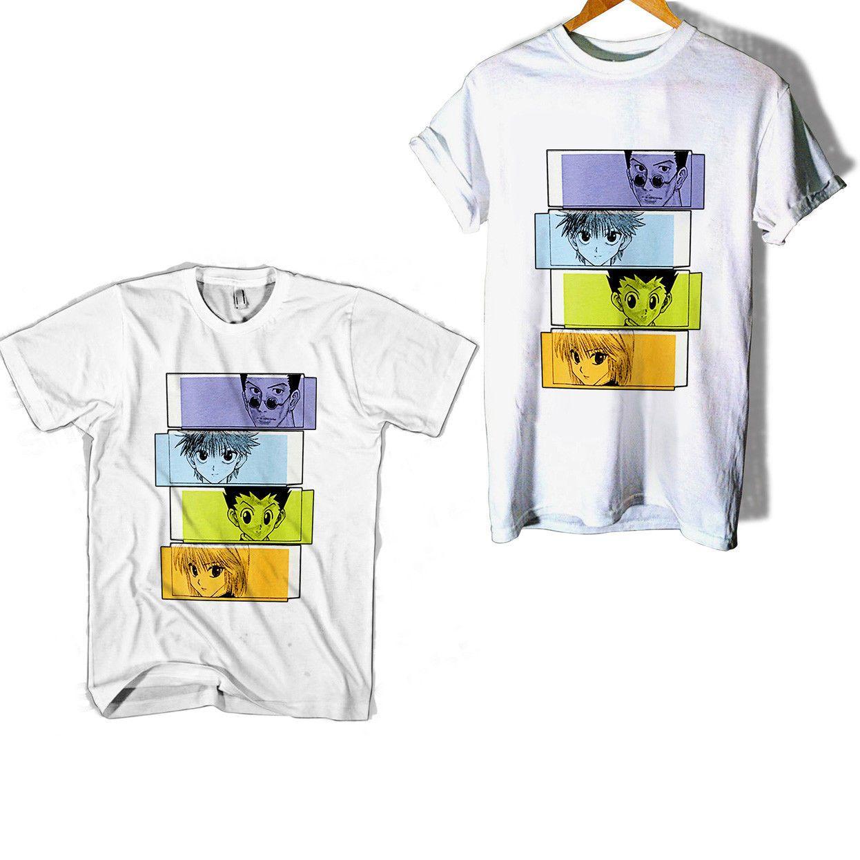 96642285bdb Weekly Shonen Jump X Uniqlo Hunter X Hunter Man   Woman T Shirt Funny  Unisex Casual Tee Gift Top Cool T Shirts Design Designs Shirts From  Universal fashion