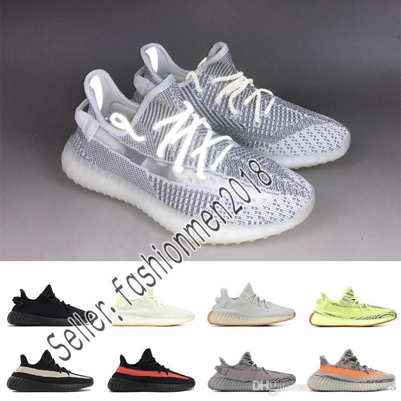 buy popular 2e8af 2c219 Compre Adidas Yeezy 350 V2 BOOST Calidad De La Mantequilla Estática V2  Diseñador De Zapatos Para Hombre Criado Semi Congelado Amarillo Sésamo  Kanye West ...