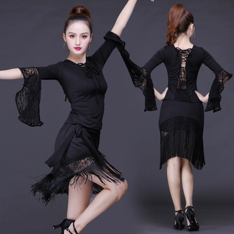 381f3a0a7bb87 Satın Al 2018 Latin Dans Etek Seksi Kadın Üst Kostüm Püsküller Elbiseler  Samba Tango Çeşitleri Elbiseler Rekabet Performamnce Salsa Lady Latin, ...