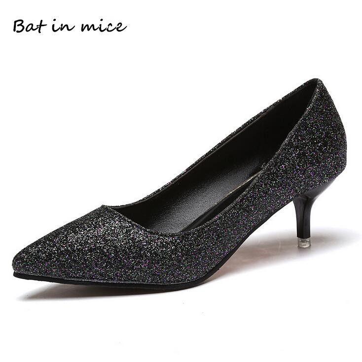 c17f802b2 Compre Designer De Vestido Sapatos Mulher Casual Escritório Tribunal  Mulheres Dedo Apontado Deslizamento Em Bombas Stiletto De Salto Alto  Senhoras ...