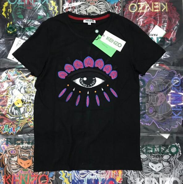8a9ab14a8 2019 Summer Designer T-Shirt Men's Tops Eye Letter Embroidered T-Shirt  Men's Clothing Brand Short Sleeve T-Shirt Women's Top S-2XL