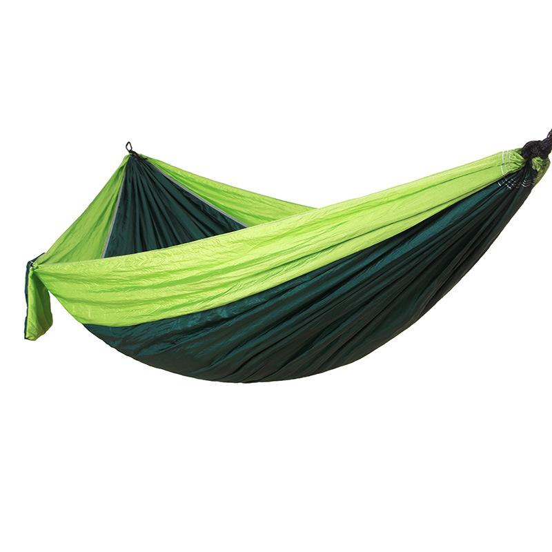 Lightweight Nylon Parachute Fabric Hammock With Steel Hooks Travel Hiking Backpacking Camping Hiking leisure swing 230*90/260*140/275*140