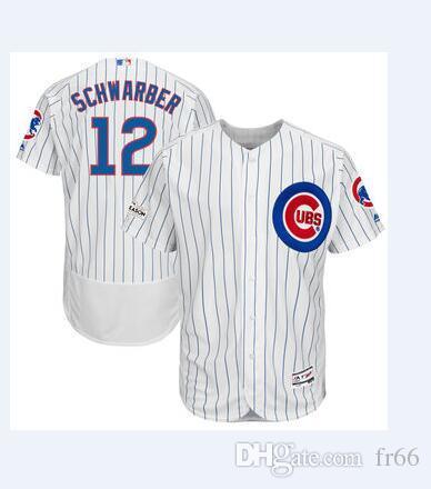 2019 World Series Champion Chicago Cubs 12 Kyle Schwarber Baseball ... f4b8b4fd16