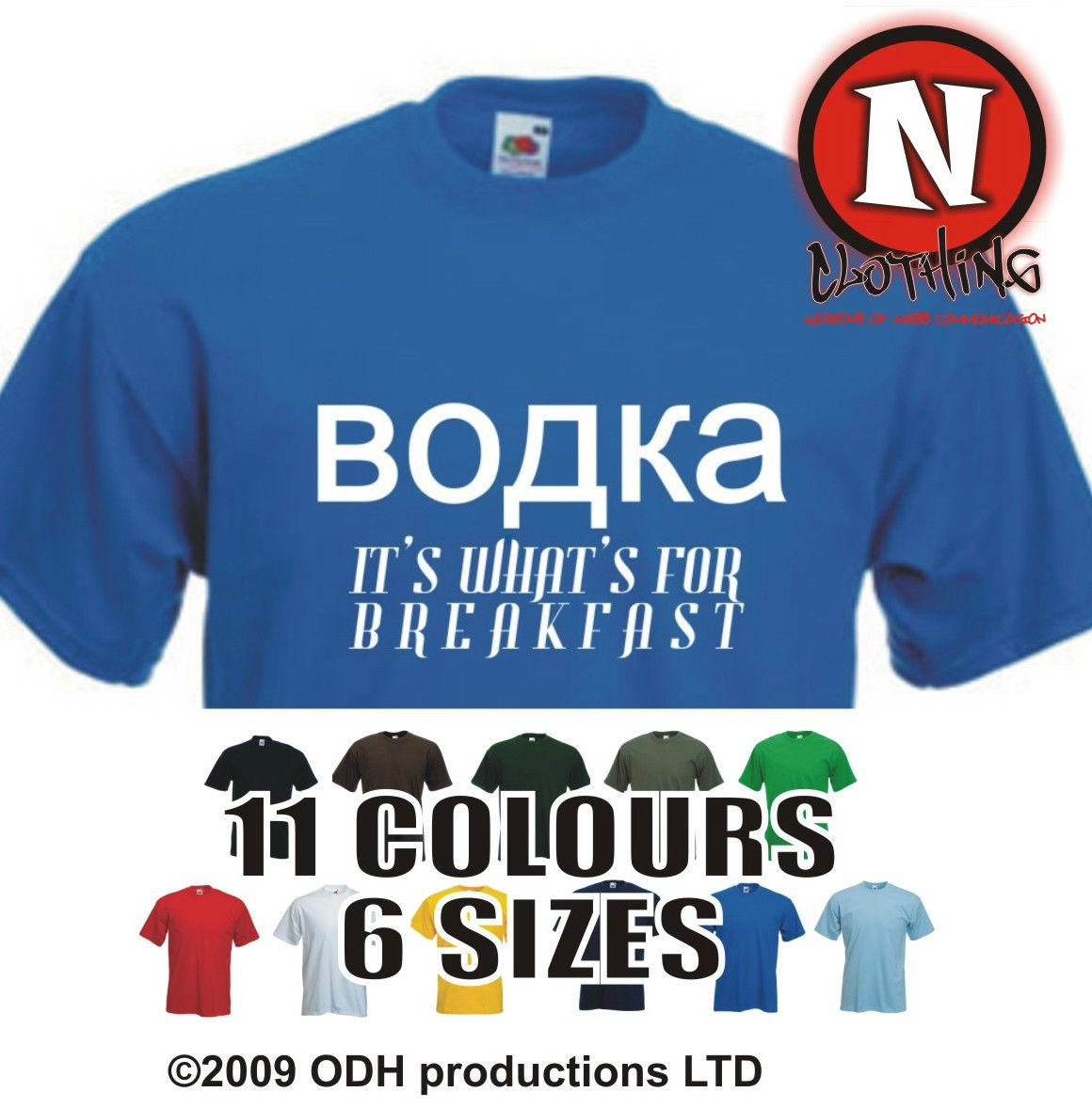 VODKA IT'S WHAT'S FOR COLAZIONE divertente bere festa club party t-shirt Divertente spedizione gratuita Unisex Casual Tshirt top