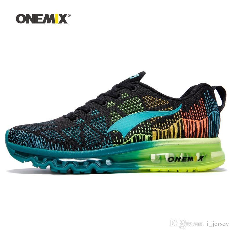 hot sale online 195ae 864ac Compre ONEMIX Hombres Zapatillas De Running Para Mujeres Air Mesh Knit  Cushion Entrenadores Tenis Zapatillas De Deporte Deportes Al Aire Libre  Paseos Para ...