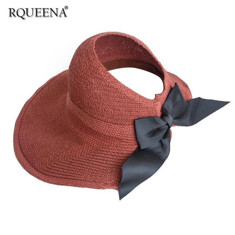 a1d84ad6 Rqueena Korean Style Women's Hat Black/Khaki/Red Straw Hats For Women Sun  Beach Hat Womens Fashion Woman Summer Hats SH009