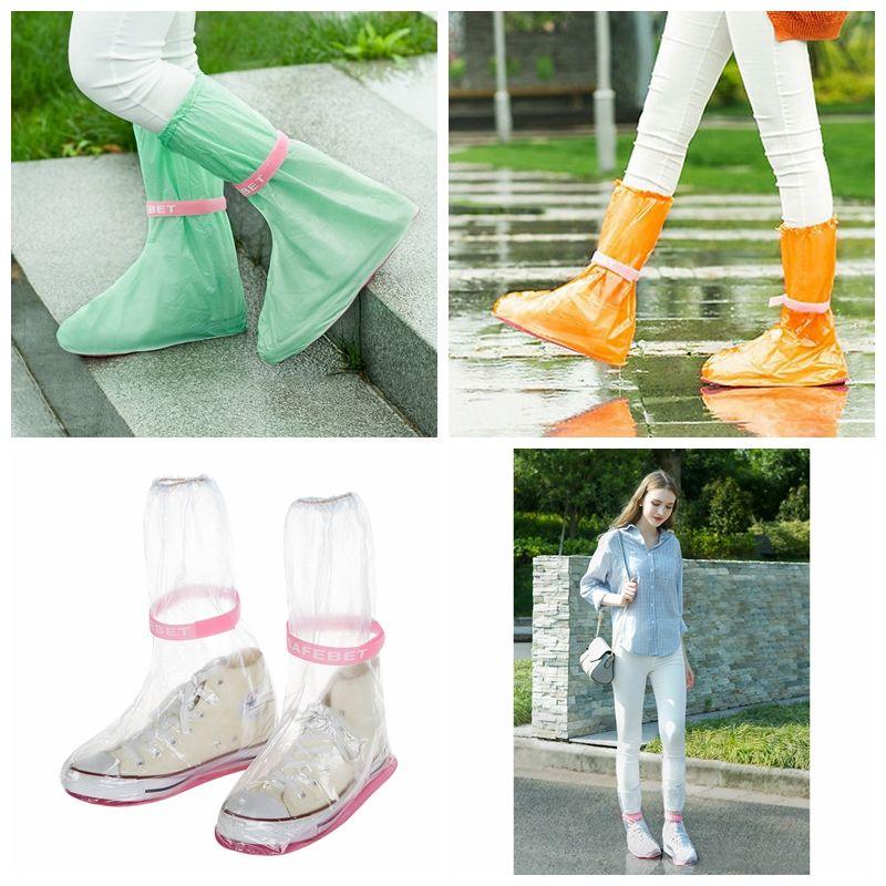 Los Zapatos Cubre Medio Compre Antideslizante Ambiente Impermeable 5pURxng