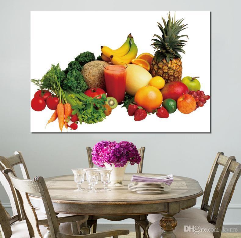 canvas Prints Home Decor Art Painting vegetables fruit juice variety Unframed