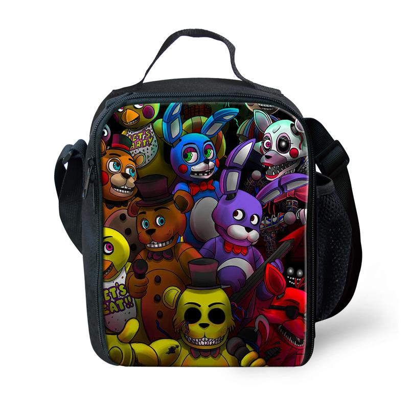 f7f497a699e9 Five Night At Freddy Lunch Bags For Women Kids Tote For School Picnic Pack  Boys Insulated Termica Cooler Bag