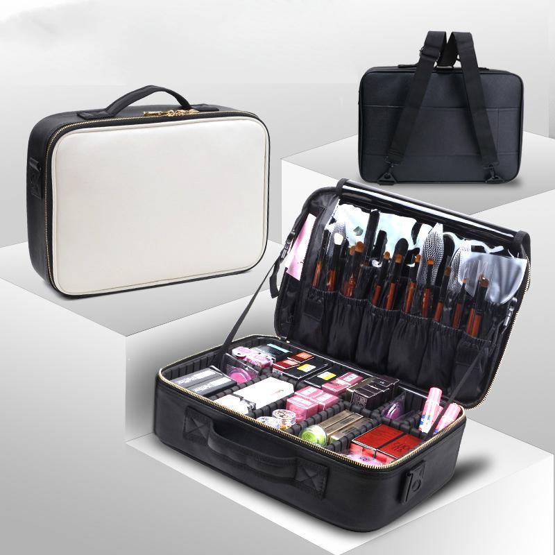 0d6faa27afad Cosmetic Bags Makeup Bag Women Professional Cosmetic Clapboard Case Large  Capacity Storage Handbag Travel Insert Toiletry Box