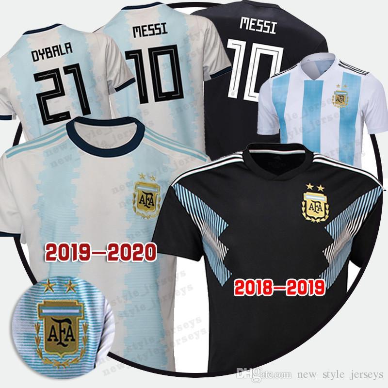 best website c1652 b00a0 2019 20 Argentina World Cup jersey 10 Messi 21 Dybala 11 Aguero 9 Icardi 14  Mascherano 20 LO CELSO Soccer Jerseys
