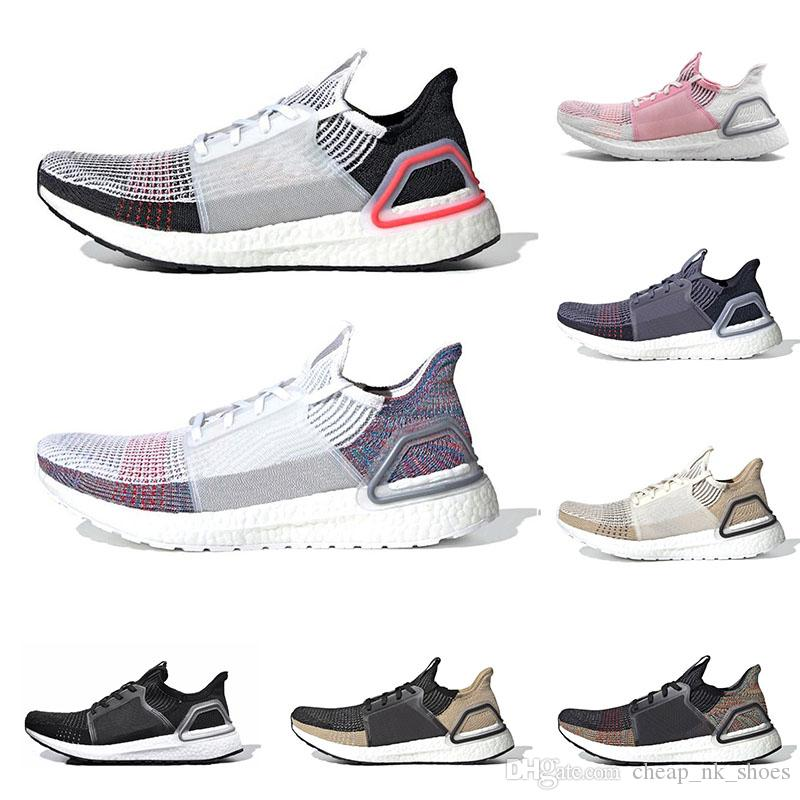 529e0962c6a46 2019 Ultra Boost Ultraboost 19 Running Shoes For Men Women Oreo Black True  Pink REFRACT Mens Trainer Breathable Sports Sneakers On Sale Running  Clothes ...