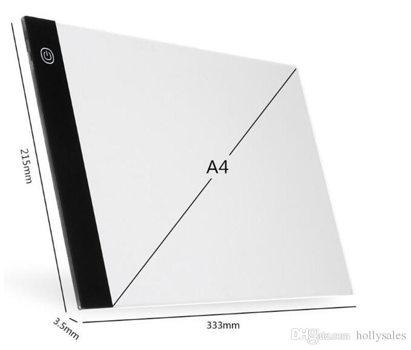 A4 LED Işık Kutusu Tracer Dijital Tablet Grafik Tablet Yazma Boyama Çizim Ultra-ince Izleme Kopya Pad Kurulu Artcraft