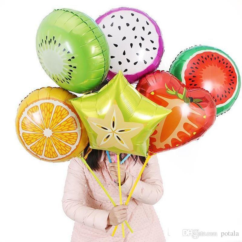 Candy Flower Aluminium Coating Balloons Fruit Pikachu Hello Kitty Balloon Christmas Halloween Wedding Party Birthday Holiday Decor 18th