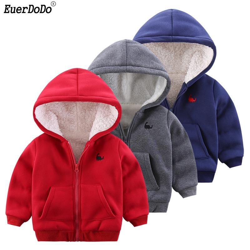 1f1857c8f Toddler Girls Coat Autumn Winter Hooded Jackets Boys Fleece Outerwear Baby  Girls Hoodies Children s Jackets 1-6 Years Boy