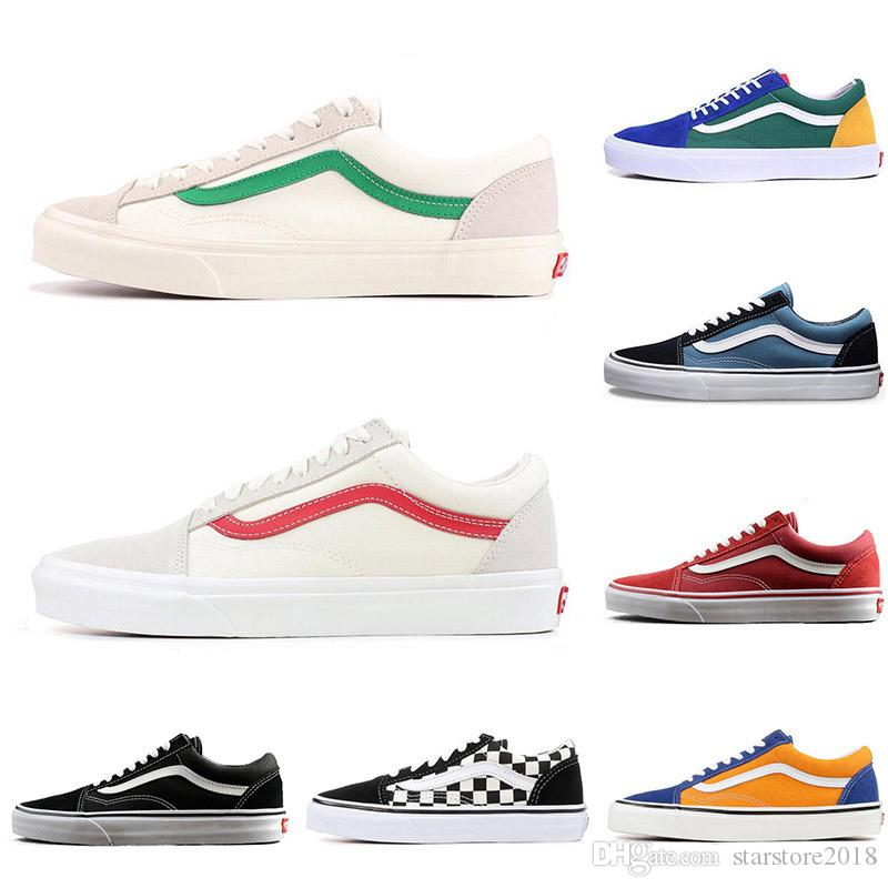 fee08177eb 2019 New Cheap YACHT CLUB Vans Old Skool FEAR OF GOD Black White  MARSHMALLOW Green PRIMAR Men Women Sneakers Fashion Skate Casual Shoes 36  44 From ...