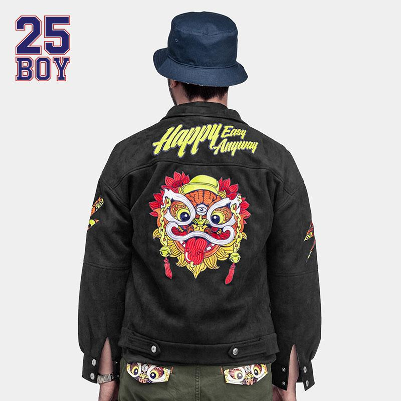 1276c0a1d57 Happy Easy Anyway Original Brand Fashion Street Jacket Men Lion Print Coat  Winter Clothes Outsize Motorcycle Clothing Cheap Mens Jackets And Coats ...