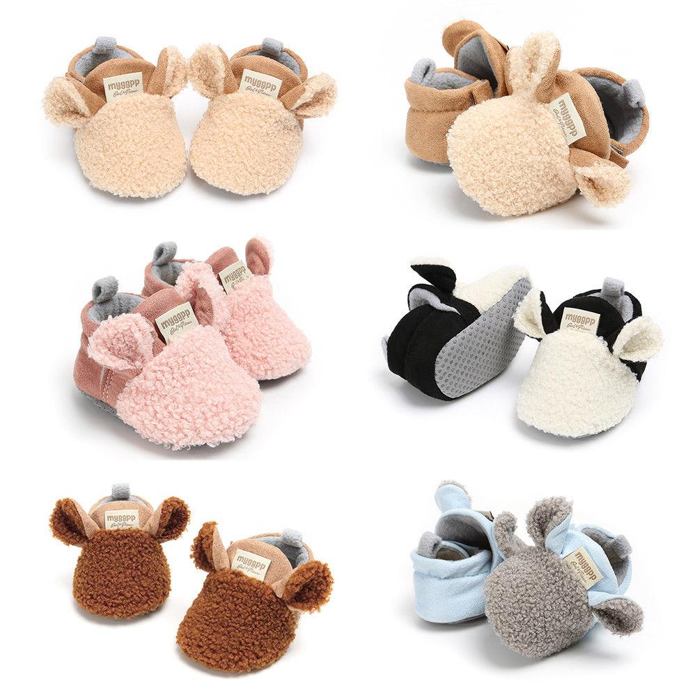 Cute Newborn Infant Baby Boy Girl Baby Moccasins Shoes Bow Soft Soled Non-slip Footwear Crib Shoes