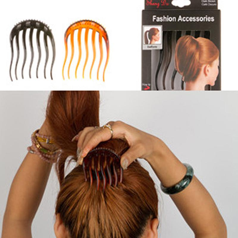 Female Horsetail Combs Volume Inserts Hair Clip Bouffant Ponytail Maker Braid Tool Hair Comb Headwear Accessories For Women