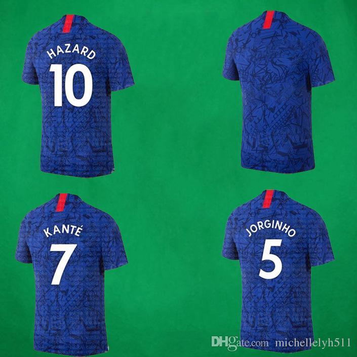 cfcd2d506 2019 19 20 CHE Home Soccer Jersey KANTE HAZARD GIROUD PULISIC ODOI  Foottball Shirts 2019 2020 Mens Top Thai Quality Blue Football Uniforms  From ...
