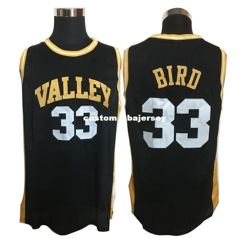 a10b74174 2019 Cheap Custom Larry Bird  33 Valley High School Basketball Legends  Black Stitched Jersey Customize Any Number Name XS 5XL From  Custom nbajersey