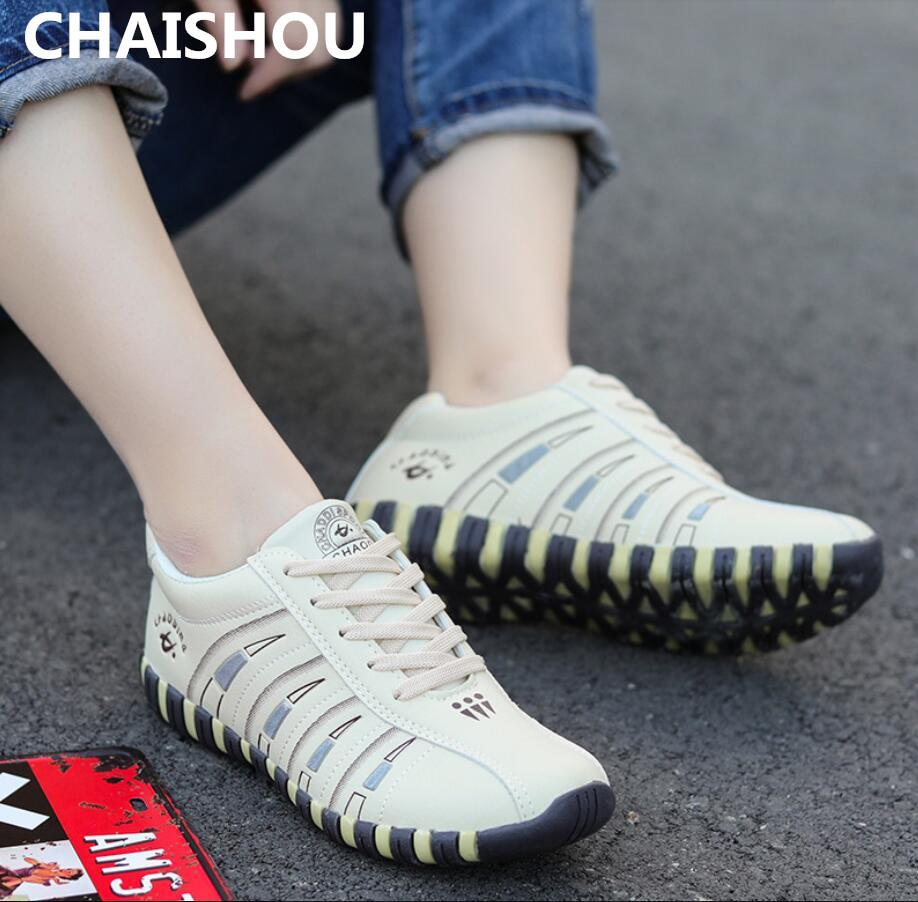 530a838f Compre CHAISHOU 2019 Primavera Nueva Moda Zapatillas De Deporte De Las  Mujeres Talón Plano Zapatos Casuales Con Cordones De Zapatos A Juego De  Color Zapatos ...