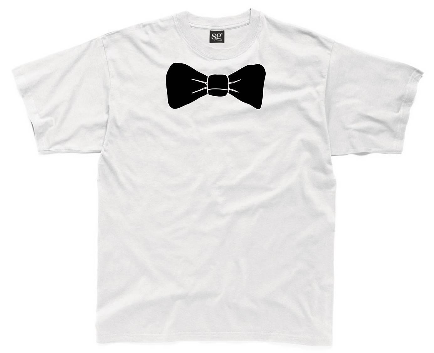 BOW TIE Mens T Shirt S 3XL White Funny Printed Novelty Costume Shirt Tuxedo  The New Short Sleeve 268d36097