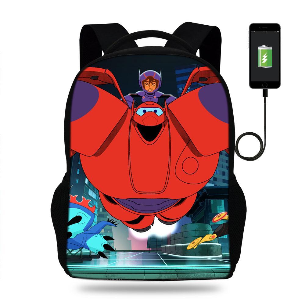 a65b067b2d77 New Fashional cartoon Schoolbags Bags USB Charger laptop Backpack Teenagers  Children Backpacks Girls travle Bag